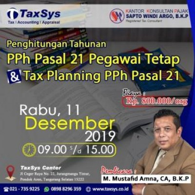 Income Tax Article 21 Workshop